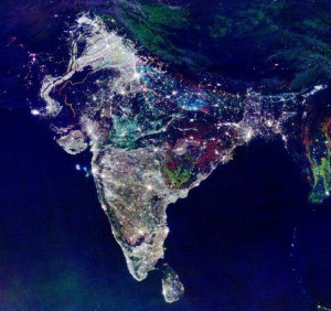 india satellite image diwali fake