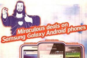 jesus samsung phone ad