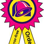 Taco Bell Error Free Order Award